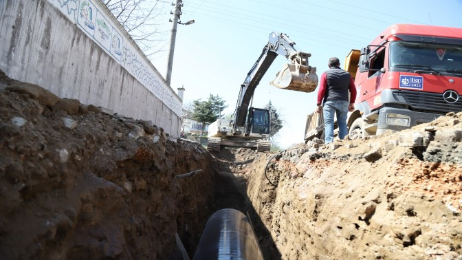 İSU, Karakaya içme suyu hattını yeniliyor