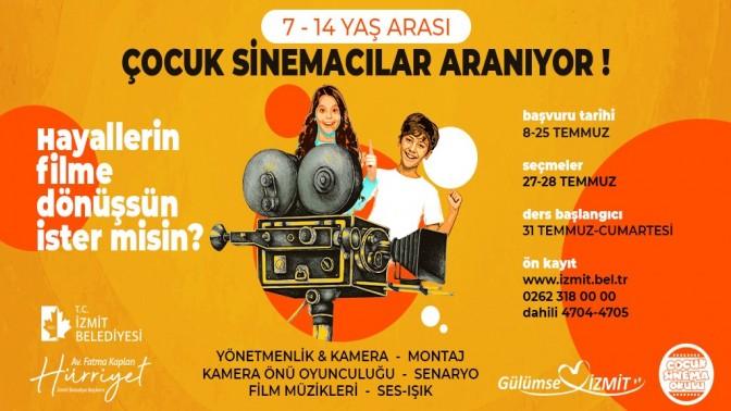 İzmit Belediyesi çocuklara sinemanın kapılarını aralıyor