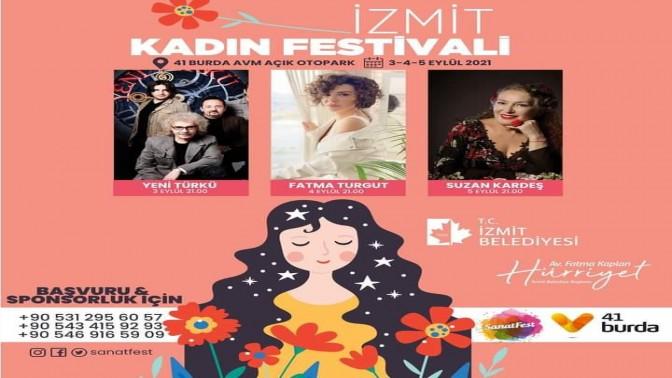 İzmit Kadın Festivali yarın başlıyor!