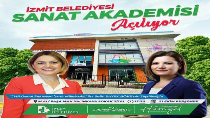 İzmit Sanat Akademisi'nin açılışı 21 Ekim'e ertelendi