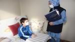 Görme engelli Ziya'ya Braille alfabeli Elif-Ba hediye edildi